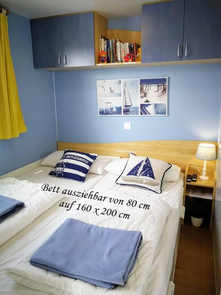 Schlafzimmer 2 mit Schlafbett 160x200