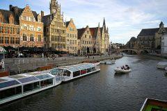 Romantische Schifffahrt in Gent